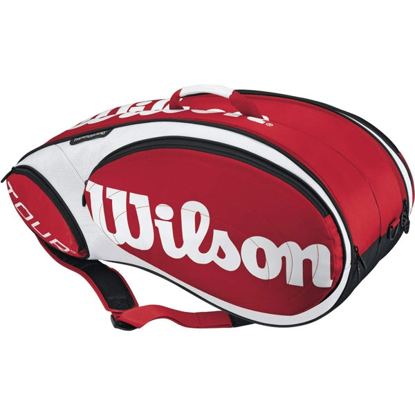 Wilson Tour 9 Pack Tennis Bag (Red/ Wht)