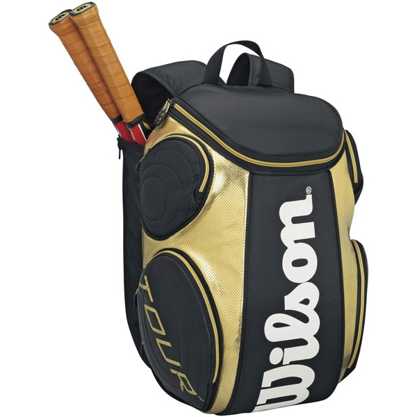Wilson Tour Large Tennis Backpack (Gld/ Blk)