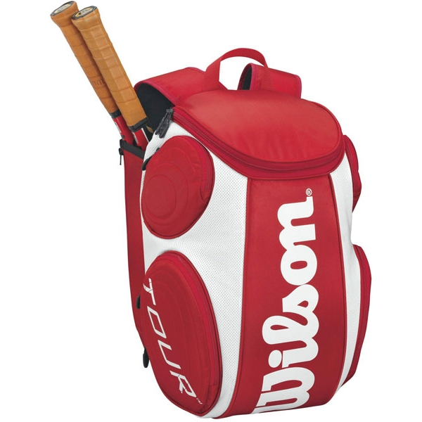 Wilson Tour Large Tennis Backpack (Red/ White)