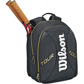 Wilson Tour Tennis Backpack (Blk/ Gld/ Wht)