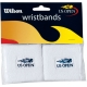 Wilson US Open Wristband 2Pk - Wilson Headbands & Writsbands Tennis Apparel