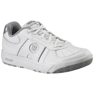 Wilson Women's Pro Staff Classic II Tennis Shoes (Wht/ Sil)