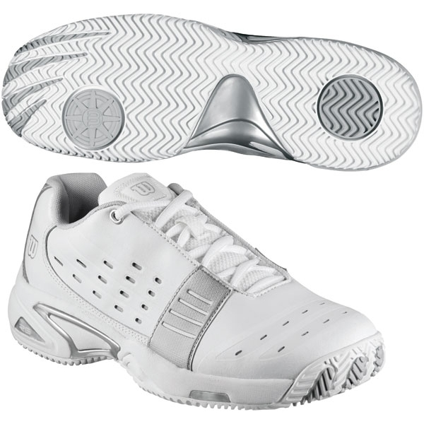 Wilson Women's Tour Fantom Tennis Shoe (White/Silver)