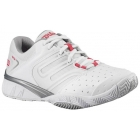 Wilson Women's Tour Ikon Shoes (Wht/ Sil/ Pnk) - Wilson Tennis Shoes