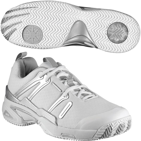 Wilson Women's Tour Spin II Tennis Shoe (White/Silver)