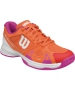 Wilson Rush Pro 2.5 Junior Tennis Shoe (Nasturtium Orange/White/Rose Violet) - Tennis Shoes for Kids