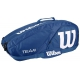 Wilson Team II Navy 6 Pack Tennis Bag (Navy/ White) - Tennis Racquet Bags