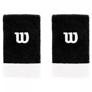 Wilson Extra Wide 'W' Tennis Wristband (Black/White)