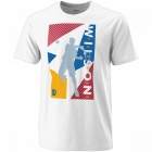 Wilson Men's Geo Play Tech Tennis Tee (White) - Wilson Men's Tennis Apparel