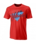 Wilson Men's Nostalgia Tech Tennis Tee (Infrared/White) - Shop the Best Selection of Tennis Apparel