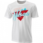 Wilson Men's Nostalgia Tech Tennis Tee (White) - Wilson Men's Tennis Apparel