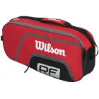 Wilson Federer Team Collection 3 Pack Tennis Bag (Red/ Blk Wht) - Wilson Federer Tennis Bags