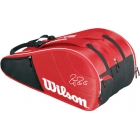 Wilson Federer Court Collection 12 Pack Tennis Bag (Red/ Black) - Wilson Tennis Bags