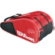 Wilson Federer Court Collection 12 Pack Tennis Bag (Red/ Black) - Wilson Federer Tennis Bags