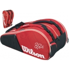 Wilson Federer Court Collection 15 Pack Tennis Bag (Red/ White) - Wilson Tennis Bags
