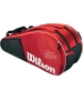 Wilson Federer Team Collection 6 Pack Tennis Bag (Red/ Black) - New Wilson Arrivals