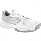 Wilson Womens Rush Lady Tennis Shoes (White/ Grey) - Wilson Rush Tennis Shoes
