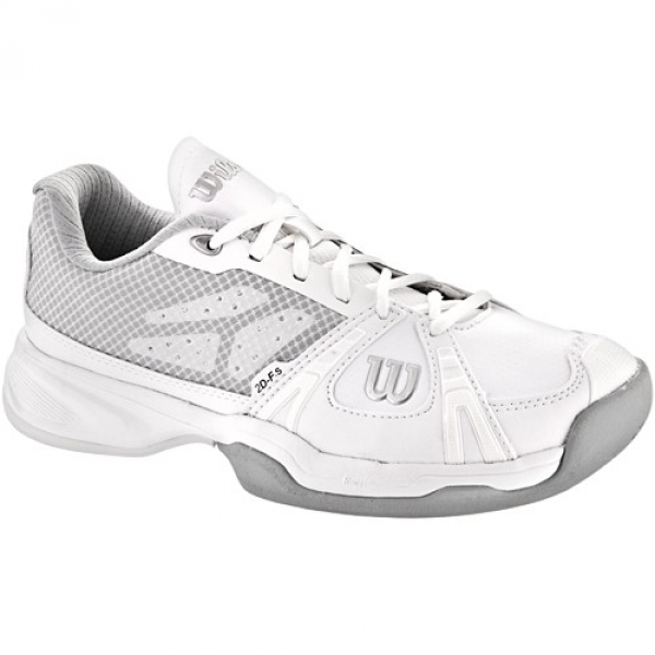 Wilson Womens Rush Lady Tennis Shoes (White/ Grey)