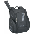 Wilson Tour V Large Backpack (Black/Silver)  - Wilson Tour Series Tennis Bags