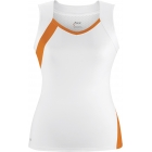 DUC Wink Women's Tank (Wht/ Org) - DUC Women's Apparel Tennis Apparel