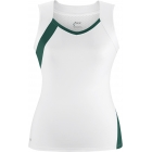 DUC Wink Women's Tennis Tank (White/Pine) [SALE] - Clearance Sale! Discount Prices on Women's Tennis Apparel