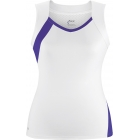 DUC Wink Women's Tank (Wht/ Pur) - DUC Team Tennis Apparel