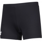 Babolat Women's Compete Tennis Shorty w/ Moisture Wicking Polyester (Black/Black) - Women's Tennis Shorts
