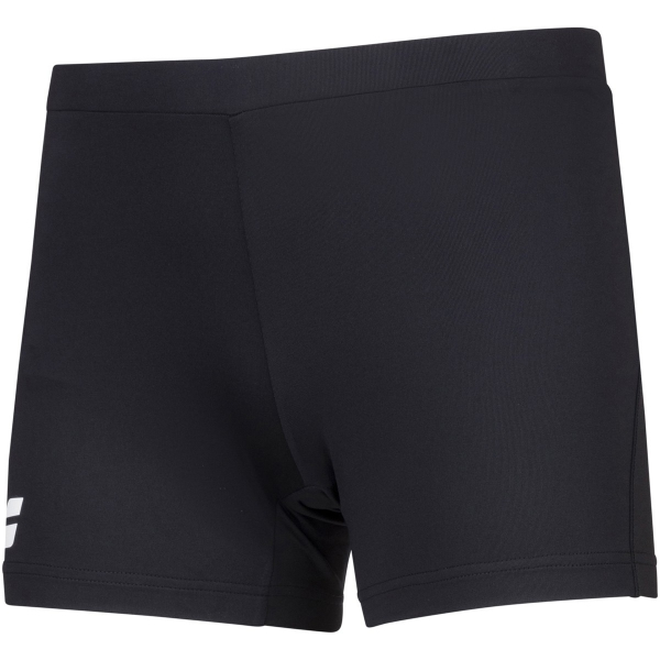 Babolat Women's Compete Tennis Shorty w/ Moisture Wicking Polyester (Black/Black)