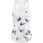 Babolat Women's Compete Tennis Tank Top w/ Moisture Wicking Polyester (White/Estate Blue) - Women's Tank Tops