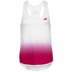 Babolat Women's Compete Tennis Tank Top w/ Moisture Wicking Polyester (White/Vivacious Red) - Women's Tank Tops