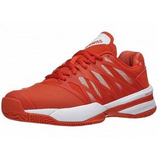 K-Swiss Women's Ultrashot Tennis Shoes (Fiesta/White)