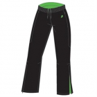 Prince Women's Warm-up Pant (Black/ Green) - Women's Pants