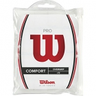 Wilson Pro Overgrip 12 Pk (White) - Absorbent Over Grips