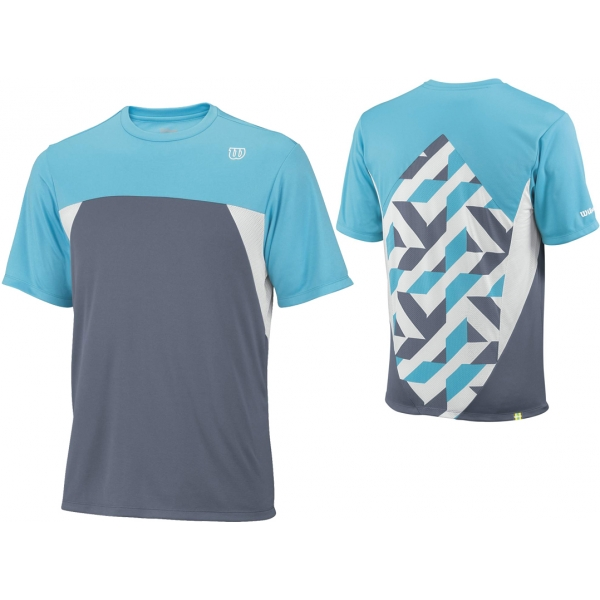 Wilson Mens Pure Battle Crew (Flint Grey/ Oceana/ White)