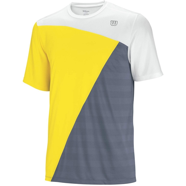 Wilson Mens Tough Win Crew (White/ Union Gold/ Flint Grey)