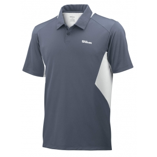 Wilson Men's Great Get Polo (Grey/ White)