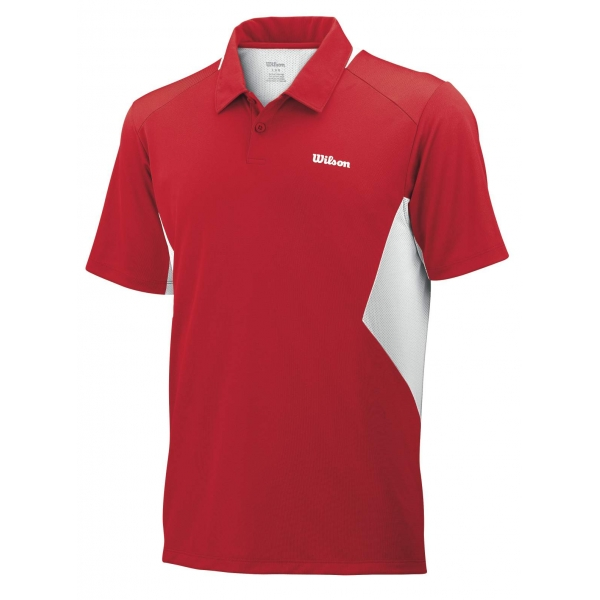Wilson Men's Great Get Polo (Red/ White)