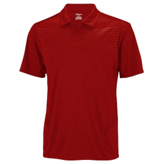 Wilson Men's Solana Embossed Polo (Red)