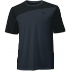 Wilson Men's Rush Colorblock Crew (Black/ Coal) - Wilson Men's Apparel Tennis Apparel