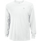 Wilson Men's Rush Colorblock LS Crew (White) - Wilson Men's Apparel Tennis Apparel