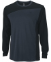 Wilson Men's Rush Colorblock LS Crew (Black/ Coal) - Wilson Men's Apparel Tennis Apparel