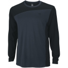Wilson Men's Rush Colorblock LS Crew (Black/ Coal) (Team) - Wilson New Spring Apparel