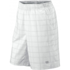 Wilson Men's Rush Plaid Short (White) - Wilson Tennis Apparel