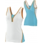 Wilson Women's Total Control Tank (White/ Oceana/ Orange)