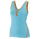 Wilson Women's Total Control Tank (Oceana/ Orange) - Women's Tops Tennis Apparel
