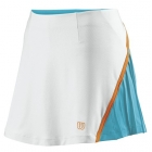 Wilson Women's Total Control Skirt (White/ Oceana/ Orange) - Wilson New Spring Apparel