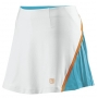 Wilson Women's Total Control Skirt (White/ Oceana/ Orange)