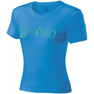 Wilson Womens Graphic Tee (Cyan)