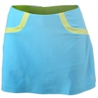 Wilson Women's Solana Colorblock Skirt (Oceana/ Green) - Wilson Tennis Apparel