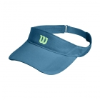 Wilson Rush Knit Tennis Visor Ultralight (Niagara Blue) - Tennis Hats